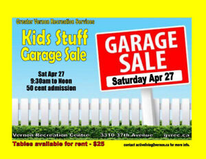 Greater Vernon Recreation | Kids' Stuff Garage Sale