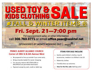 FALL Children's Used Clothing and Toy Sale