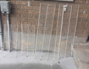 Wire rack shelves