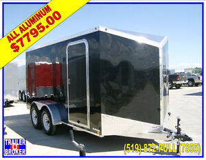 7x16 ALL Aluminum V-Nose Trailer, 7' Tall ,BEST PRICE ANYWHERE!