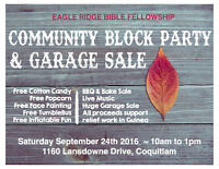 Community Block Party and Garage Sale