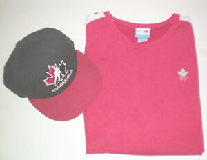 Team Canada 2006 Olympics Hat and Large T Shirt