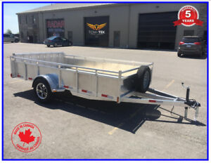 7 x 12 Aluminum utility trailer with bifold ramp 5 year warranty