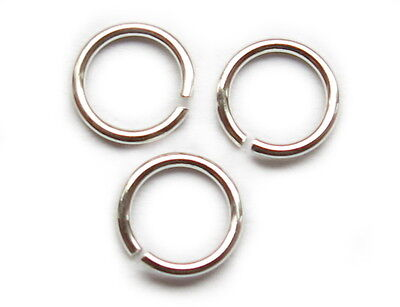 925er Sterling Silber - Ring. Spaltringe. Binderinge. Offen.  5x0,6mm. 10 Stück.