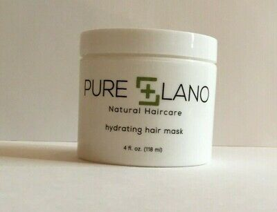 Pure Lano Hydrating Hair Mask, Intense Nourishment to Damaged Hair, 4 Fl Oz