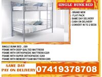 Brand New metal Bunkk Bed Available With Mattress zimibab