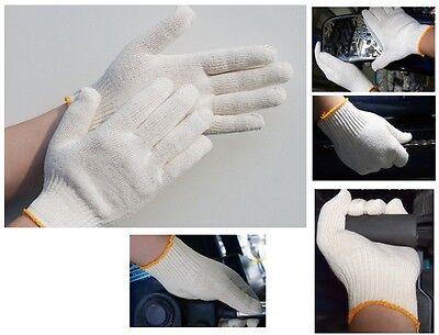 White Knit Glove (50Prs White Cotton Knit Work Glove Size 9 Large )