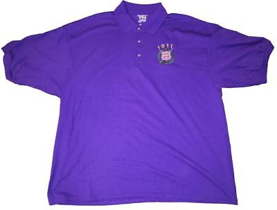 Omega Psi Phi  Embroidered Polo  Full 6 Color Shield
