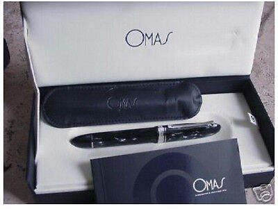 OMAS 360 GREY CELLULOID MAR  FOUNTAIN PEN HT NEW IN BOX