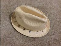 Accessorize Straw Beach Summer Festival Hat with Charm Detail