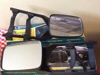 Caravan Towing Mirrors - With original boxes - Universal Fittings