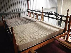 Queen bed with Mattress (Need Gone) Maddington Gosnells Area Preview