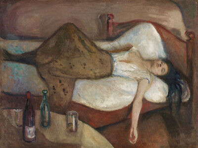 The Day After Edvard Munch Wall Art Print Giclee CANVAS Poster Repro Small -