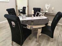 Asmara Round Dining Table Set