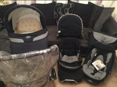 Baby Pram Bundle With Carseat Raincover Parasol And Bag Unisex