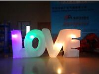Inflatable love led Letters