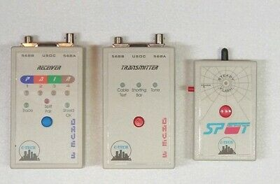 Modular Cable Tester With Receiver And Transmitter Fiber Optic Tester