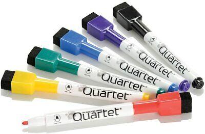 Quartet Dry Erase Markers Pen Style Fine Point 6 Pack Wbuilt In Eraser Magnet