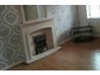 Electric fire with marble surround with matching mirror