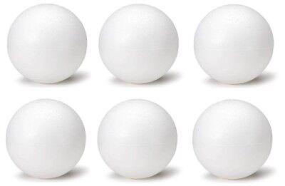 Foam Balls Craft (6 Inch Foam Polystyrene Balls for Art & Crafts Projects (6 Piece)