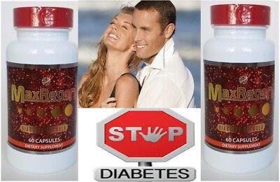 2 Maxregen Diabetic Regenex Muscle Strength Energy Glutten Free Supplement pill