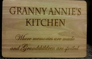 Personalised Wooden Cheese or Chopping Board, Any Message Laser Engraved