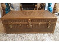 Bespoke refurbished steamer trunk / coffee table