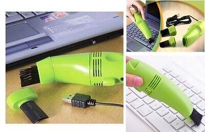 USB Mini Staubsauger Reiniger mit LED für Tastatur PC Laptop Notebook