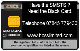 We offer SMSTS / SSSTS Black and Gold Card Upgrades in under 8 weeks - HCSS Limited.