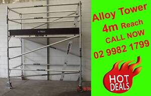 Mobile Aluminium Scaffolding Tower 1.3m x 2.5m x 2.0m High Cromer Manly Area Preview