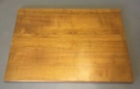 Dark oak stained wooden rectangle