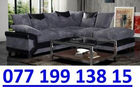 *CLEARANCE SALE - EVERYTHING MUST GO * BLACK AND GREY CORNER SOFA - FAST DELIVERY
