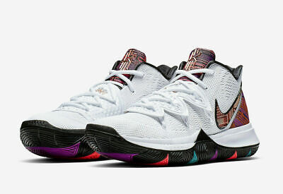 Metallic White (Nike Kyrie 5 Black History Month Men Shoes White/Metallic Red Bronze BQ6237)