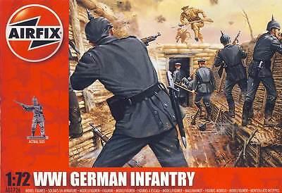 Airfix Soldaten German Infantry Deutsche Infanterie WWI 1:72 Bausatz kit NEU OVP