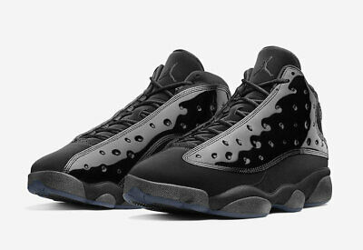 2019 AIR JORDAN 13 RETRO CAP AND GOWN BLACK/BLACK 414571-012 PATENT LEATHER
