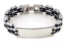 New men's stainless steel rubber bracelet Darch Wanneroo Area Preview