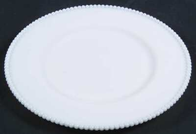 Westmoreland BEADED EDGE MILK GLASS Dinner Plate 5480357