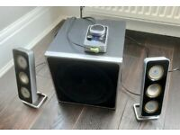 Logitech Z4 2.1 Speaker System & Subwoofer and Volume Controller - very good condition