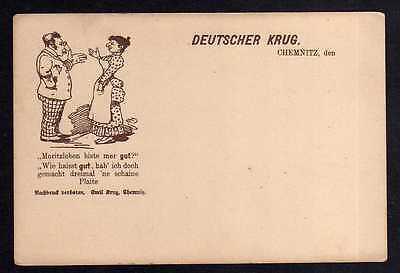96193 AK Deutscher Krug Chemnitz Jude Judaika um 1900 ´ne schaine Plaite