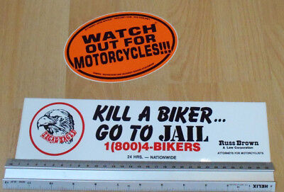 Kill A Biker Go To Jail, Watch Out For Motorcyles - Bumper Stickers