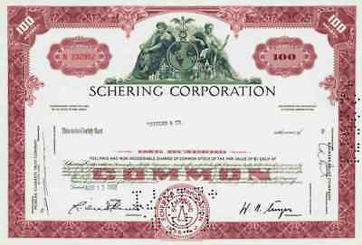 Schering Plough 1969 Kenilworth New Jersey MSD Merck Essex Historic Shares Bonds