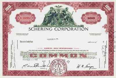 Schering Plough Corp. 1967 Kenilworth New Jersey MSD Merck Essex Historic Shares