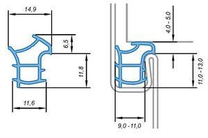 Primo Universal Dichtung für Stahlzarge Ferrum 911 14,9 x 17,1 mm weiss 5m