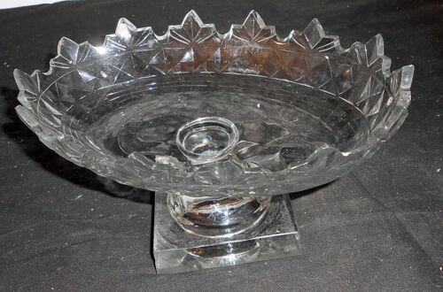 Early Blown Glass Compote 2 Piece Applied Flint Sandwich Pittsburg