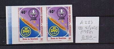 ! New Caledonia 1982. Air Mail Pair Impeforated Stamp. YT#A223. €50.00!