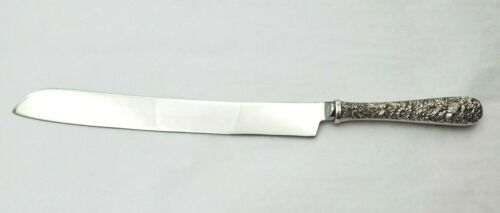 Repousse by Kirk Sterling Silver Wedding Cake Knife Custom Made #11604