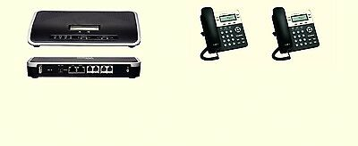 Complete New Voip Small Business Pbx W 2 Sip Phone Sets Smb Telephone System