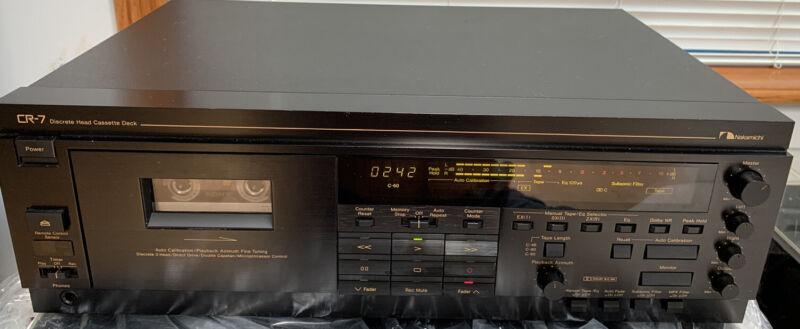 Nakamichi CR7 Discrete 3 Head Cassette Player/Deck with Remote RM-7C