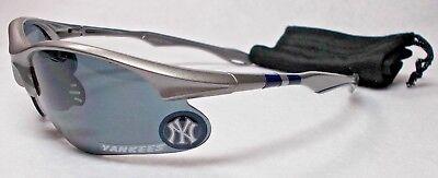 READ LISTING! New York Yankees XL 3D logo on MET.GRAY Blade Sunglasses! 2 PC SET (Mets Sunglasses)