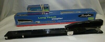 Swingline Heavy-duty Long Reach Stapler Full Strip 20-sheet Capacity Black 34121